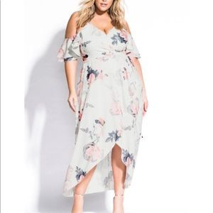 City Chic Maxi Pink Lily Dress, new with tags